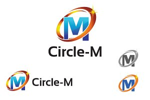Circle M Letter Business Symbol