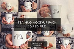 Tea Mug 10 PSD Pack