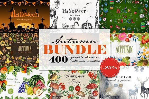 Autumn Bundle (elements, pa-Graphicriver中文最全的素材分享平台