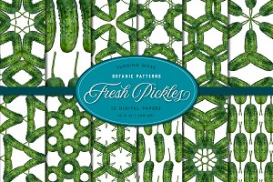 Pickle Patterns - Digital Paper