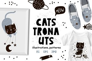 CATStronauts cute graphic kit