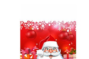 Santa Claus, Christmas background