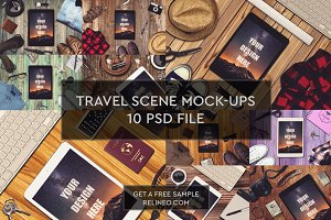 Travel Mock-up 10 PSD Pack