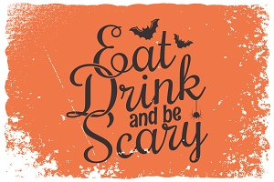 Halloween party vintage lettering