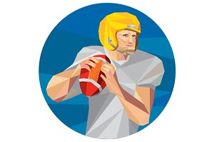 American Football Quarterback QB Low
