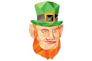 Leprechaun Head Low Polygon