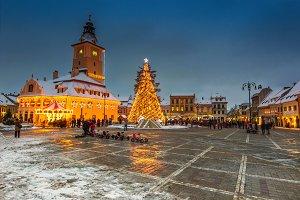 Christmas market in Brasov, Romania