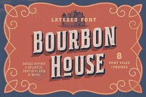 Bourbon House font + Vintage Frames
