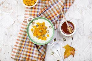 rice porridge with pumpkin