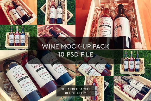 Download Wine Bottle 10 PSD Pack