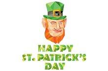Leprechaun St Patrick's Day Low Poly