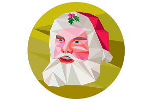 Santa Claus Father Christmas Low Pol