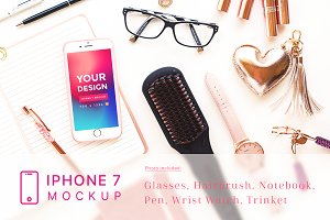 Cosmetic and Beauty iPhone 7 Mockup