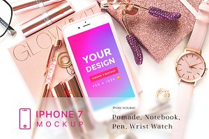Beauty and Cosmetic iPhone 7 Mockup