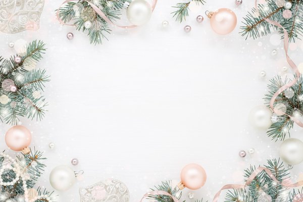 Holiday background, snowy New Year
