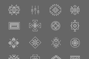 Tribal american indian symbols