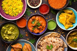 Indian food table