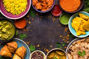 Indian food background