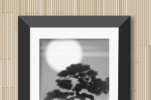 Picture tree in moonlight