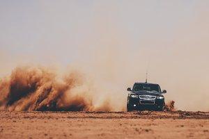 Cars 4x4 desert dunes.