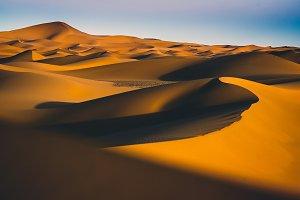 Dunes of the desert.