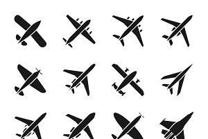 Fly and jet symbols