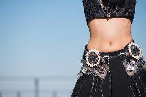 Beautiful belly dance movement