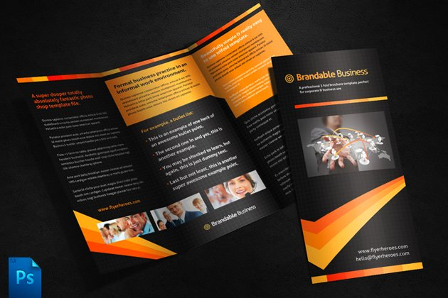 Business Tri Fold Brochure Template Brochure Templates - Photoshop tri fold brochure template free