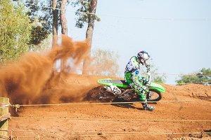 Motorcross Rider in Sand