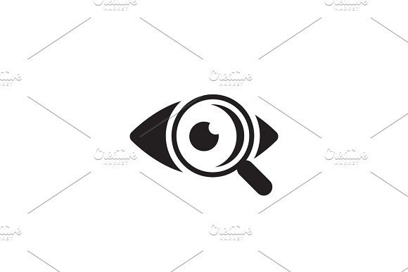 Ophthalmology And Medical Services Icon Flat Design