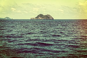 Small island in vintage style