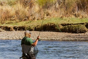 Vert-Fly Fishing in the Yampa River