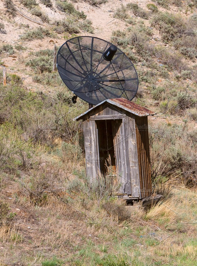 Contrast...Outhouse and Satellite - Technology