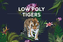 Low Poly Tigers
