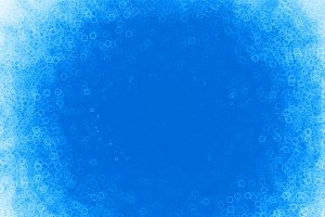 Blue water bubbles bokeh illustration background
