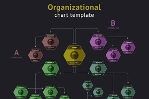 Organization Chart Illustrations Creative Market - Illustrator organizational chart template