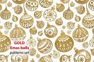 GOLD Xmas balls