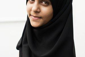 Muslim girl solo