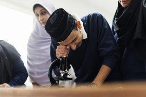 muslim children in classroom