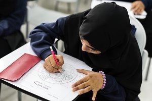 muslim girl in classroom