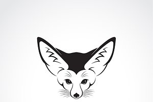 Vector of Fennec fox head.