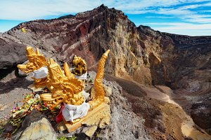 Hindu shrine in Agung volcano crater