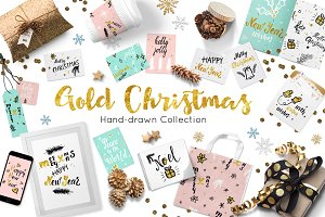 Christmas calligraphic collection