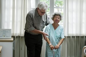 old couple in hospital