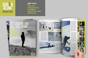 Adrenaline Magazine Template