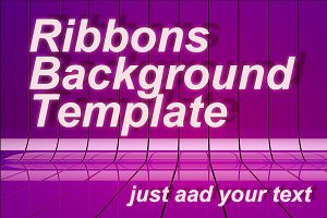 Ribbons Background psd Template