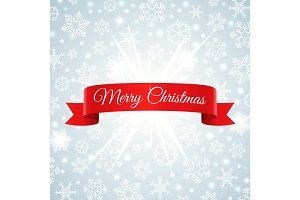 Merry Christmas snowflakes background