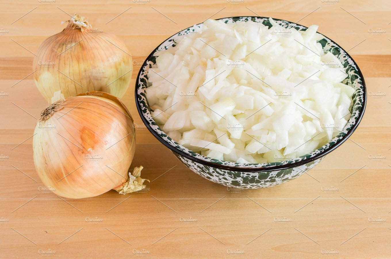Bowl of chopped white onions ~ Food & Drink Photos ...