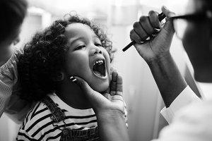 Young kid having a checkup