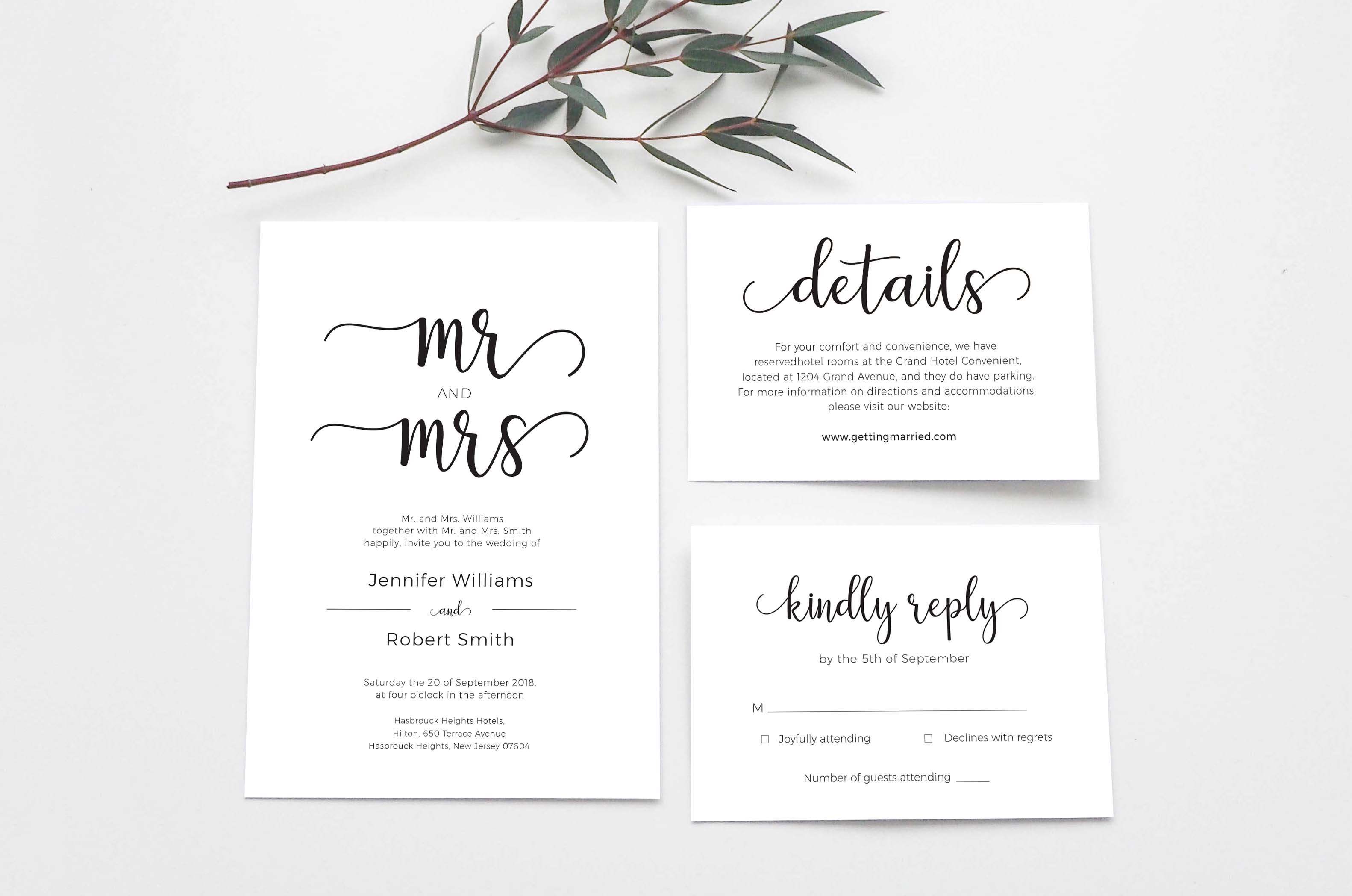 Wedding Invitation Suite ~ Templates ~ Creative Market
